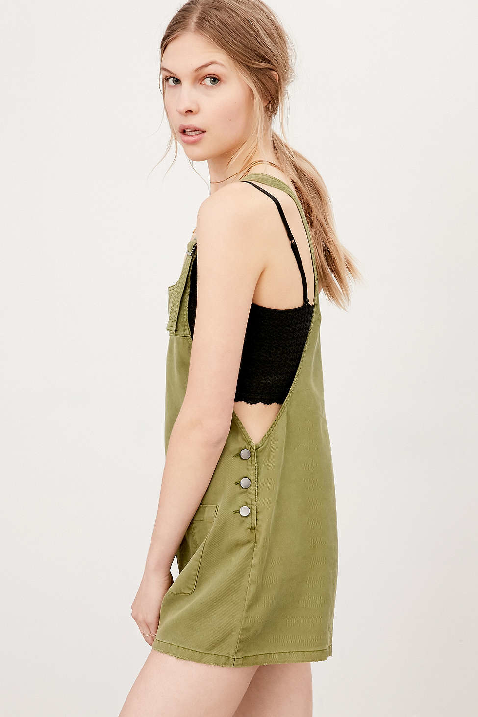 Bdg Nicki Overall Romper In Green Lyst