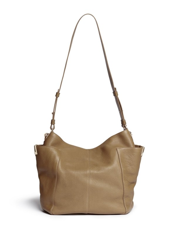 Jimmy Choo 'anna' Leather Hobo Bag In Brown - Lyst