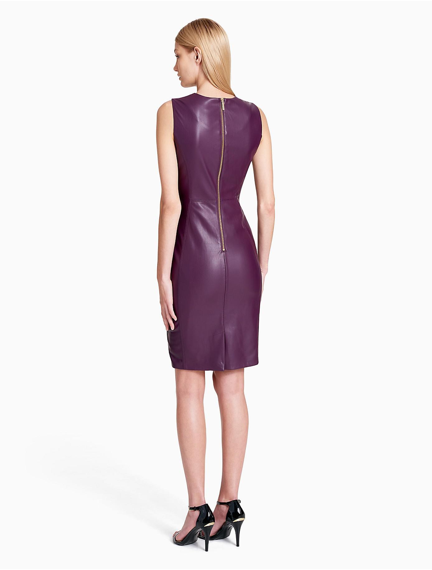 women s purple faux