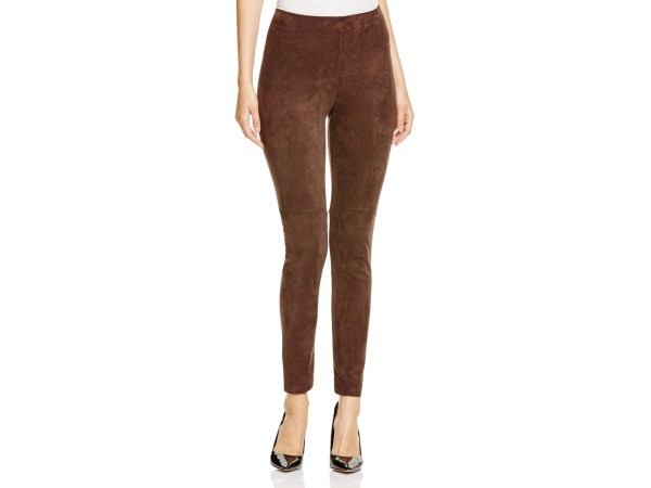 Lyss High-rise Faux Suede Leggings In Espresso Brown - Lyst