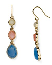 Carolee Triple Stone Drop Earrings in Gold | Lyst
