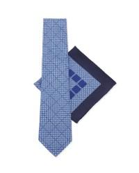 Stefano ricci Silk Tie & Pocket Square Set in Blue for Men ...