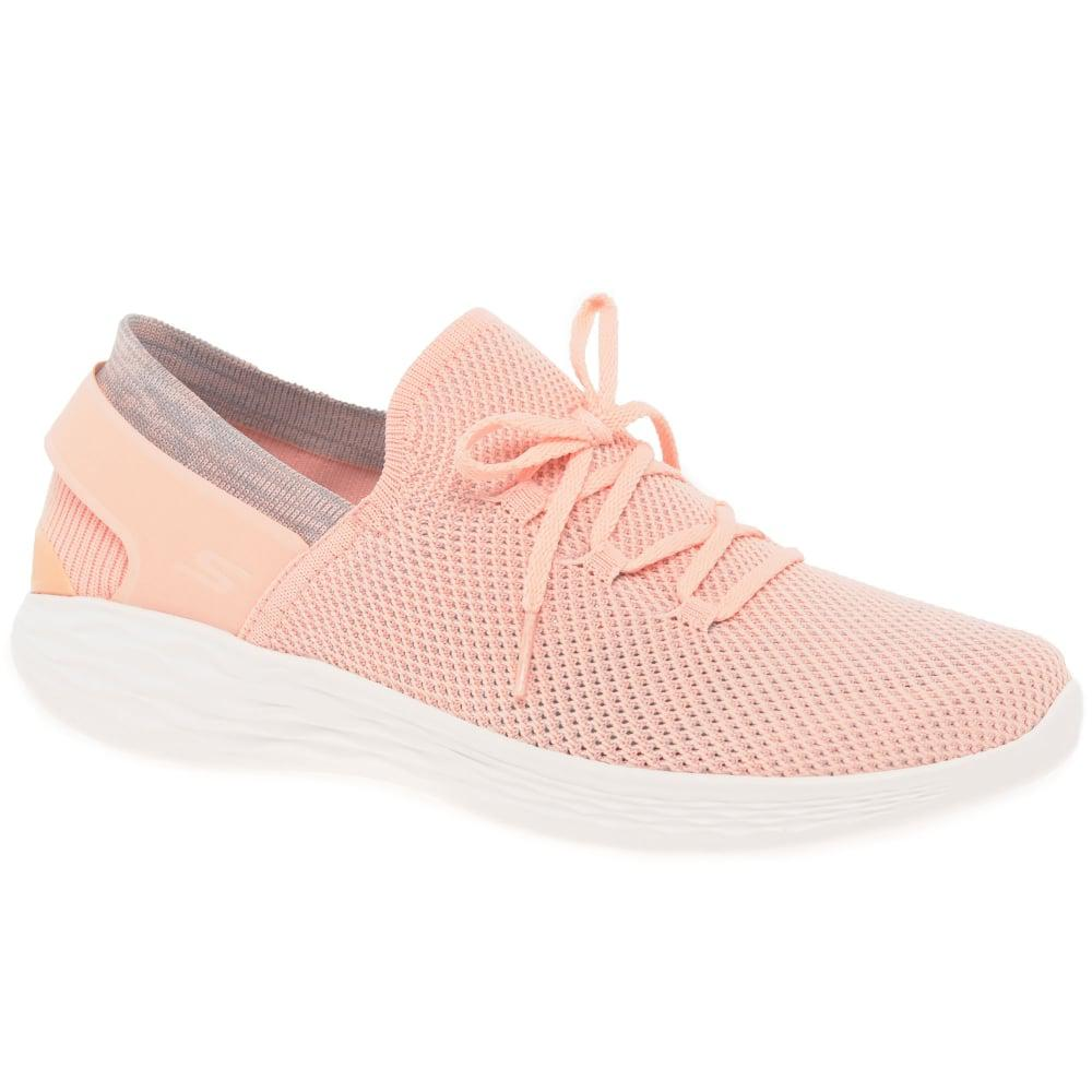 Skechers You Spirit Womens Sports Shoes in Peach (Pink) - Lyst