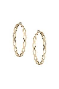 Topshop Looped Hoop Earrings in Gold   Lyst