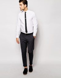 Lyst - Asos Smart Shirt With Tie And Tie Bar Set Save 24% ...