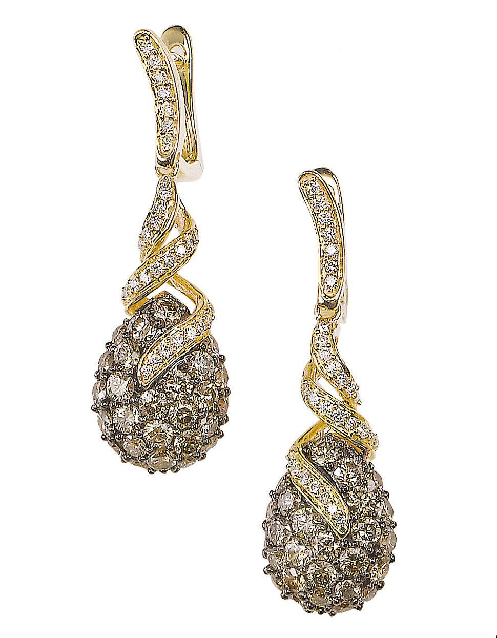 Le vian Diamond 14k Yellow Gold Drop Earrings, 2.36 Tcw in