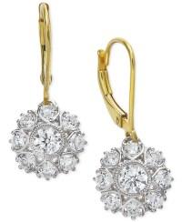 Marchesa Diamond Two-tone Snowflake Drop Earrings In 18k ...