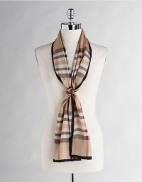 Lord & taylor Silk Plaid Scarf in Multicolour | Lyst