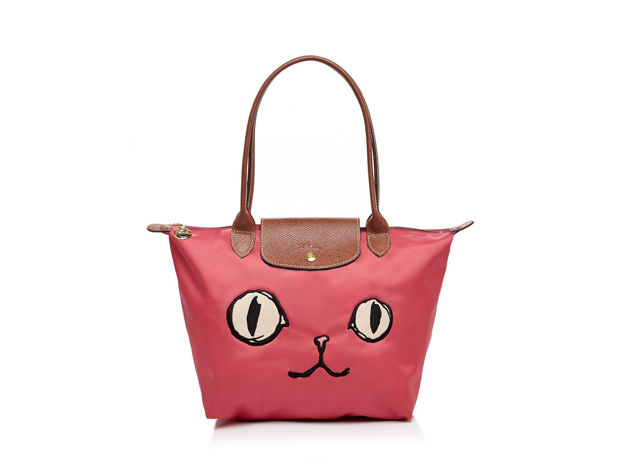 Lyst - Longchamp Le Pliage Miaou Medium Shoulder Bag in Pink