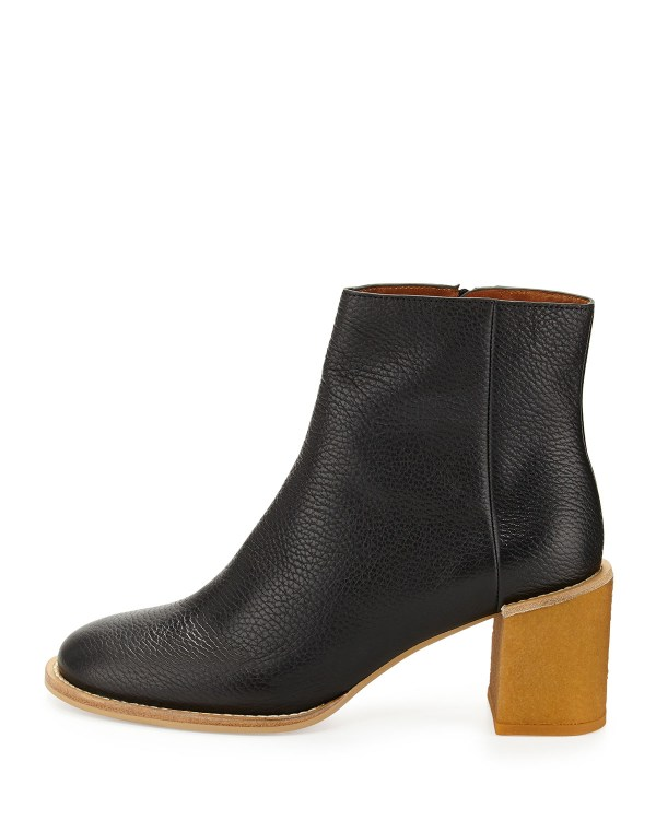 Lyst - Chlo Keira Leather Ankle Boot In Black