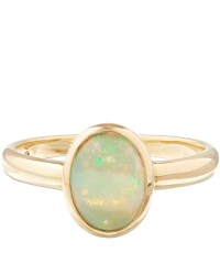 Kojis Gold Single Opal Stone Ring in Green | Lyst
