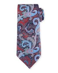 Ermenegildo zegna Paisley-print Silk Tie in Blue for Men ...