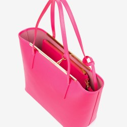 3e12ea9a1 Lyst Ted Baker Crosshatch Leather Shopper Bag In Pink
