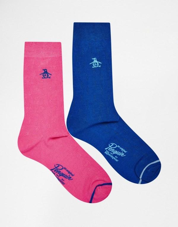 Original Penguin 2 Pack Socks In Pink Blue Men - Lyst