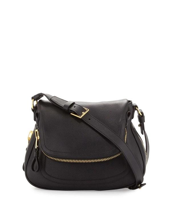 Tom Ford Jennifer Calfskin Cross-body Bag In Black Lyst