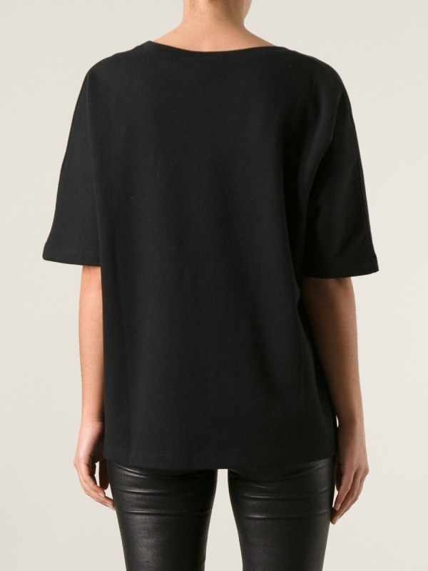 3417fc345cf Lyst - Gucci Studded Slogan T-shirt In Black