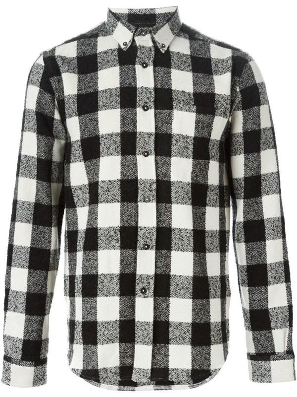Lyst - Ami Checked Shirt In Black Men