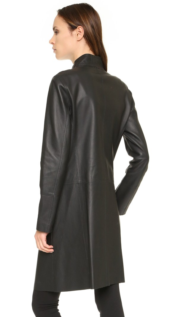 Dkny Pure Bonded Leather Jacket In Black Lyst