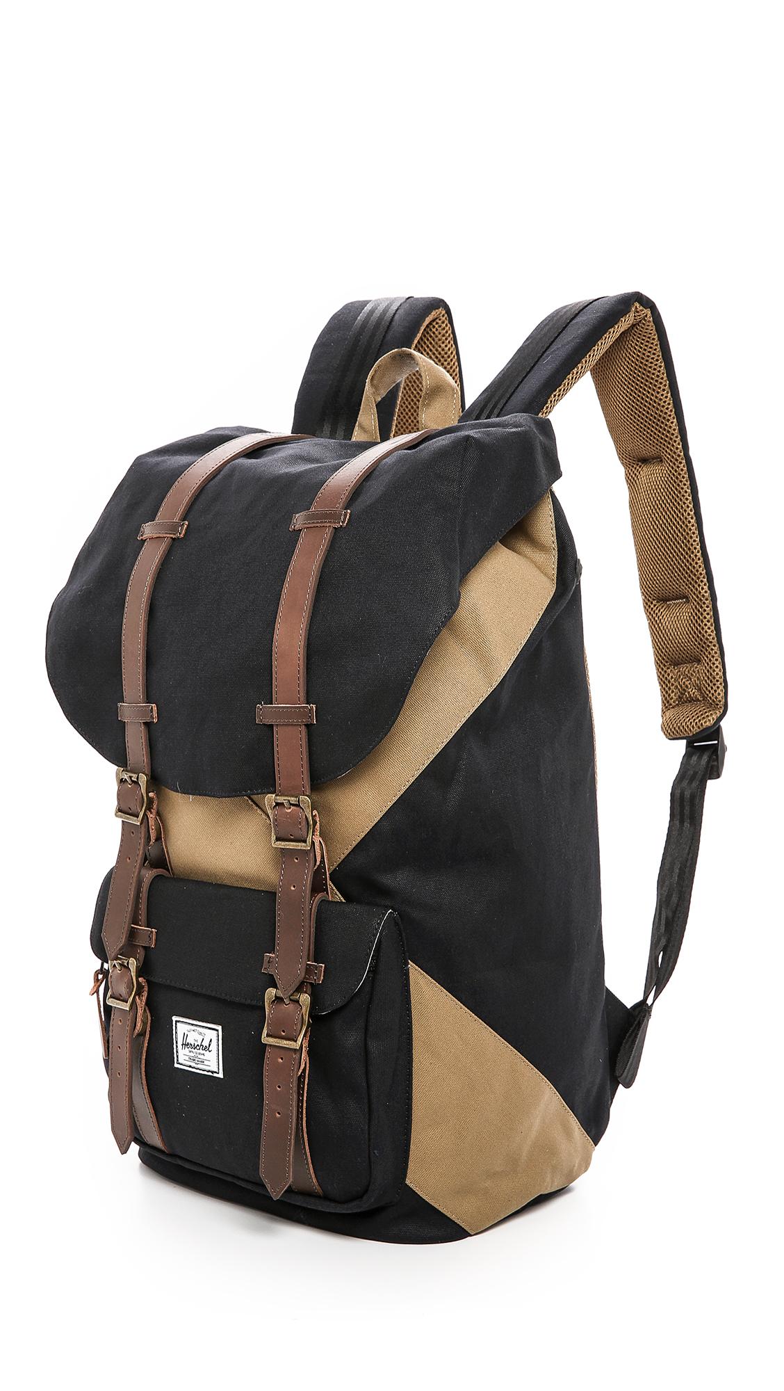 Herschel Supply Co. Little America Studio Backpack in Black/Sand (Black) for Men - Lyst