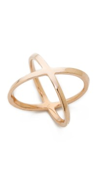 Lyst - Michael Kors Pave X Ring - Rose Gold/Clear in Metallic