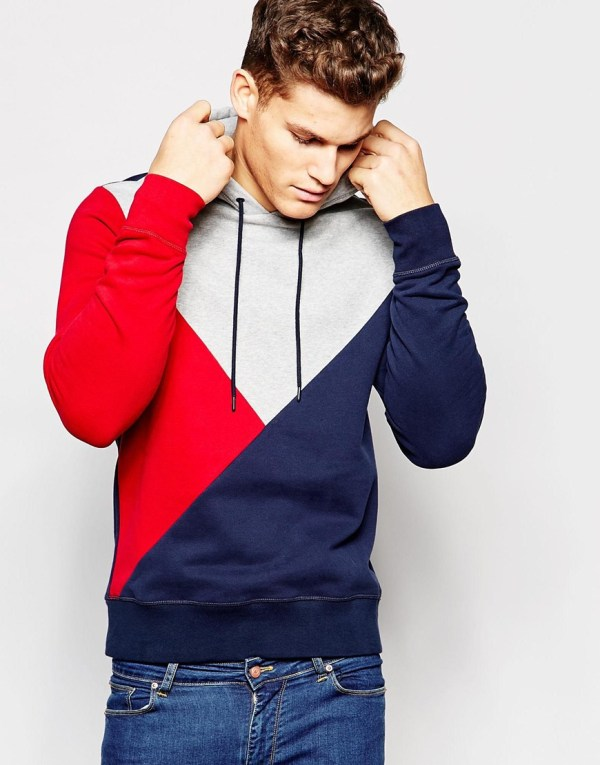 Lyst - Tommy Hilfiger Hoodie With Block Colour In Blue Men
