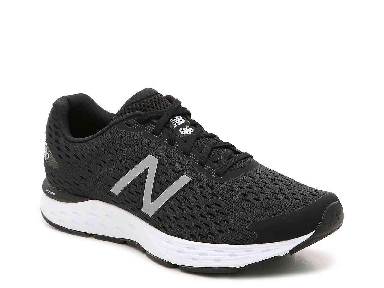New Balance Synthetic 680 V6 Running Shoe in Black for Men - Lyst