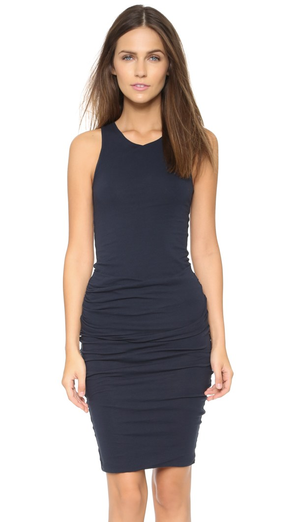 Lyst - James Perse Ruched Tank Dress In Blue
