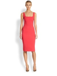 Lyst - Antonio Berardi Sleeveless Sheath Dress in Orange