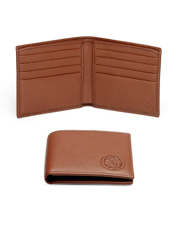 Lyst - Gucci Soho Leather Bifold Wallet In Brown Men