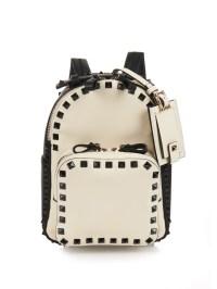 Lyst - Valentino Rockstud Leather Mini Backpack in Black