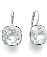 Swarovski Drop Earrings Clear Swarovski Crystal Drop