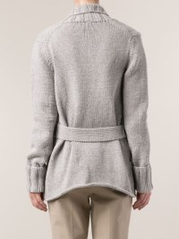 Lyst - Michael Kors Shawl Collar Sweater Jacket in Gray