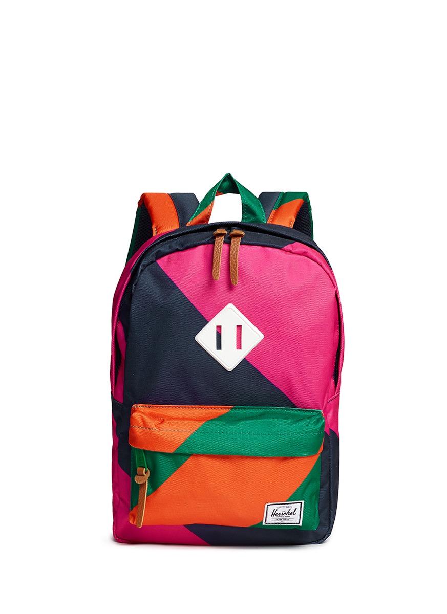 Herschel supply co. 'heritage' Colourblock Print Kids Backpack | Lyst