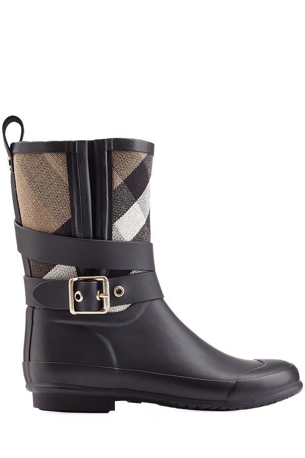 Burberry Holloway Rubber Rain Boots - Black In Lyst