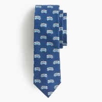 J.crew Italian Silk Tie In Vintage Van Print in Blue for ...