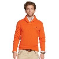 Polo Ralph Lauren Shawl Pullover Sweater in Orange for Men ...