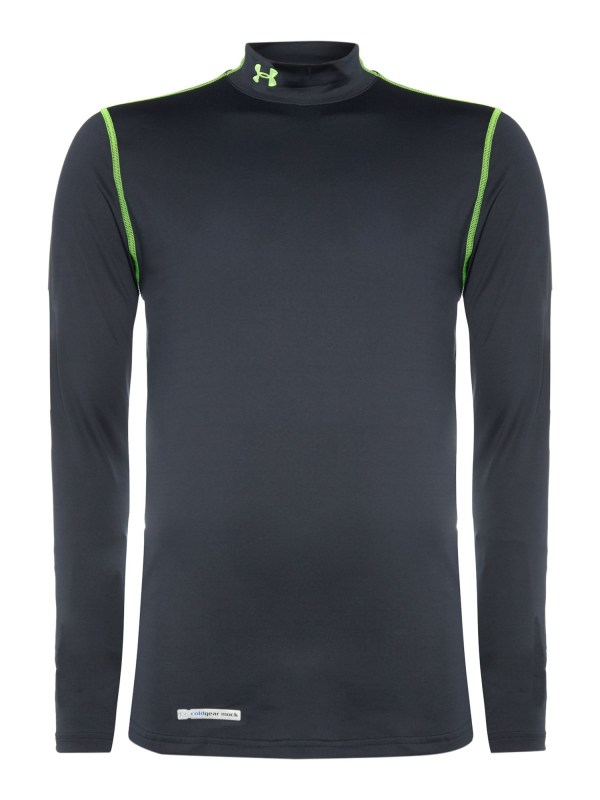 Under Armour Coldgear Fitted Mock Neck Base Layer In Black