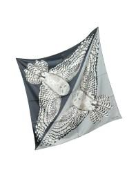 Valentino Owl Print Twill Silk Square Scarf in Gray for ...