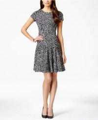 Lyst - Calvin Klein Petite Printed Short-sleeve Fit ...