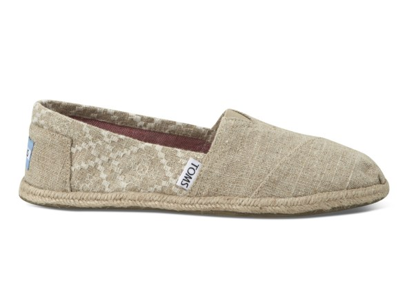 Toms Hemp Embroidered Women' Classics In Natural Lyst