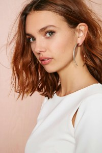 Nasty gal Open Up Hoop Earrings in Metallic   Lyst