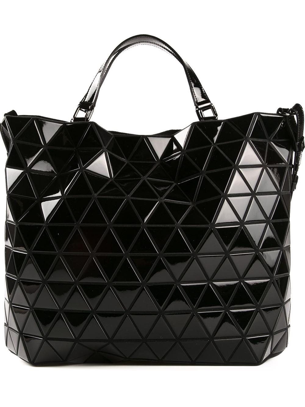 Lyst  Bao Bao Issey Miyake Geometric Cross Body Bag in Black