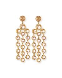 Kate Spade Sparkle Chandelier Earrings in Gold (BLUSH) | Lyst