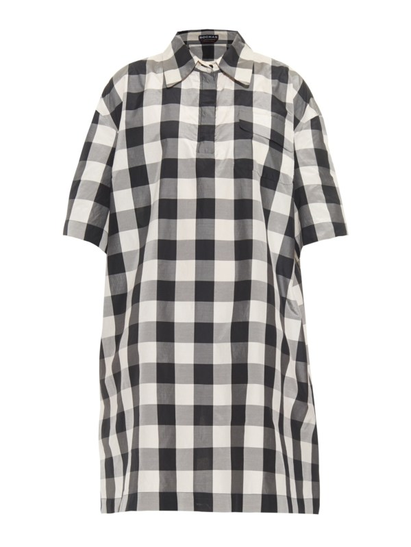 Lyst - Rochas Checked Shirt Dress In Black