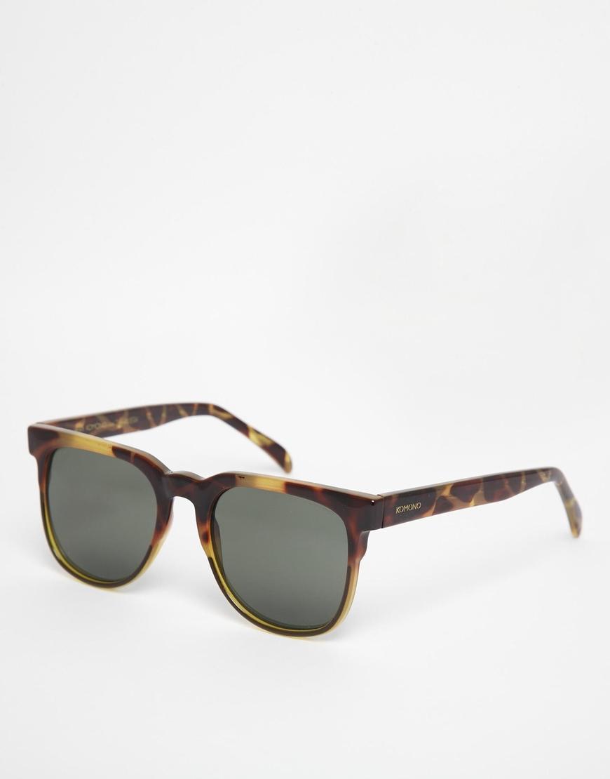 Komono Riviera Wayfarer Sunglasses in Tortoise (Brown) for Men - Lyst