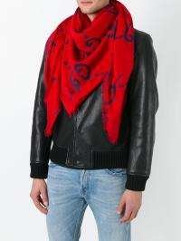 Lyst - Gucci Ghost Scarf in Red for Men