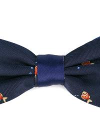 Lyst - Canali Woven Fish Bow Tie in Blue for Men