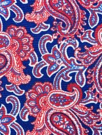 Kiton Paisley Print Tie in Blue for Men | Lyst