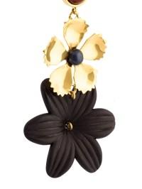 Lizzie Fortunato Oversized Flower Earrings in Black - Lyst