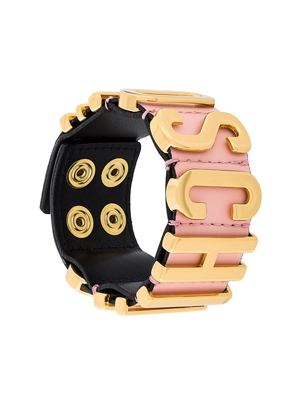 Lyst Moschino Bracelet With Golden Logo